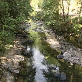 Santiam River from the bridge