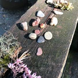 I always have a pocket full of rocks:)