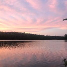 Sunset on Lake Chickenbone