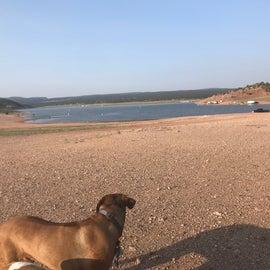 Primitive camping lake front