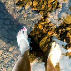 Super clear water.