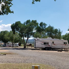 Less fancy RV sites, but with full hook-ups