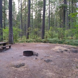 The site right as we arrived.  I love how open the site is yet how secluded it feels.