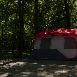 our tent at our camp site