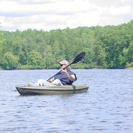 hubby enjoying kayaking.