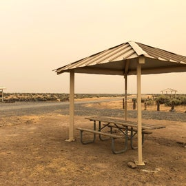 One of the four large, semi-shaded camp sites.