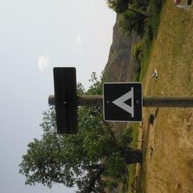 Campsite sign