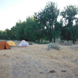 Our camp location at Eagle Creek