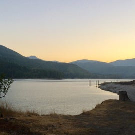 VIew of the resevoir from the campground