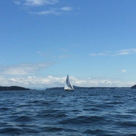 Sailing west of Cypress in Rosario Strait