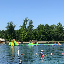 Inflatables on water