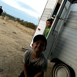 Our boys love to come camping! And get dirty of course!