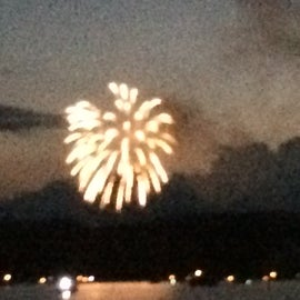 Fireworks on the lake every July 3
