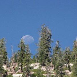Moonset over Starkweather Lake