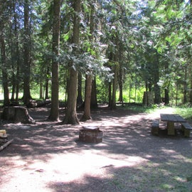Probably my favorite spot, at the beginning of the east loop. Plenty of space for hammocks, tents, etc and nicely shaded.