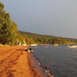 Golden Beach on Raquette Lake