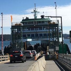 Orcas Islands ferry landing.