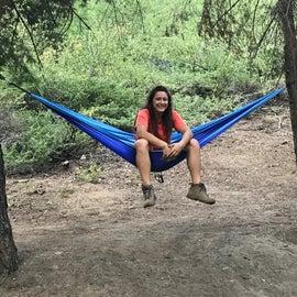Perfect spots for hammocks!