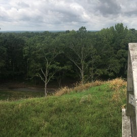 A pano from the top of the big mound decking.   I did find this to be a beautiful view however watch out there are a few loose nails so be careful I tore my leggings when taking this.