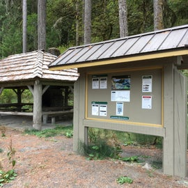 Shelter and info board