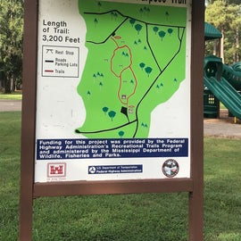 Trail map (with playground in the background)