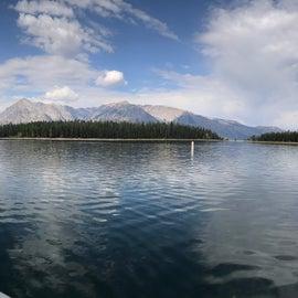 Jackson lake marina at coulter bay 30 minutes away