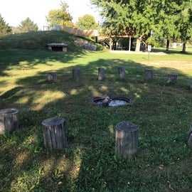 Fire circle near Natural Playground