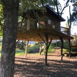 Tree house at Natural Playground