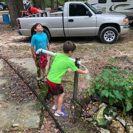 Fresh spring water! Kids loved it!