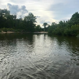 Huzzah Creek right next to our campsite!