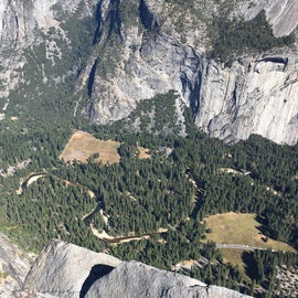 From Glacier Point looking into the valley and at Housekeeping Camp