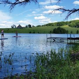 Paddle Boarding on Ticklenaked Pond