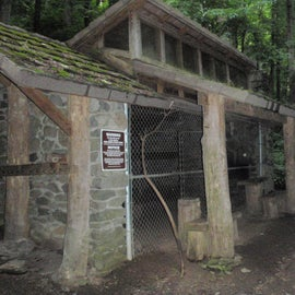 The last caged shelter remaining on the AT in the Great Smokies