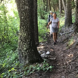 Hiking on the Boulder Creek trail.