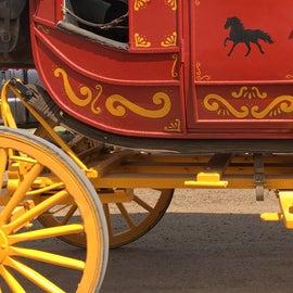 Restored stagecoach