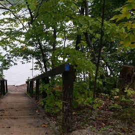 Stairway from camp down to Lake Ann