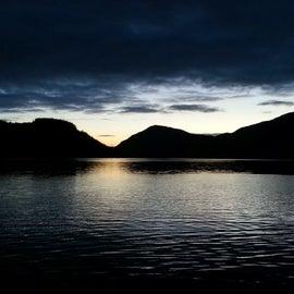 Sunset inside Nakwasina sound
