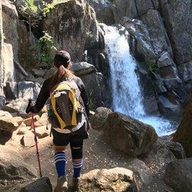 Beginning of chilawalna falls trail