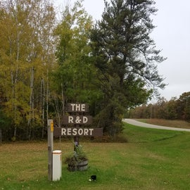 """From the side road, it just says """"resort""""."""