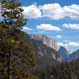View of Half Dome from highway 120 headed down to the valley. Photo by me, Amanda McConnell