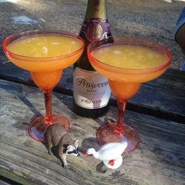 Celebratory post-Half Dome mimosas