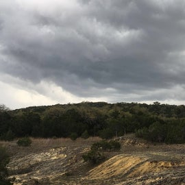 Storm clouds coming in during a hike.