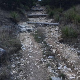 Portion of the trail heading to the top of the hill - fun!