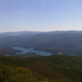 View of Fontana Lake from the top of the tower