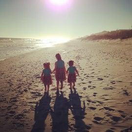 Morning walk down the beach