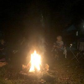 Plenty of room for fireside gathering