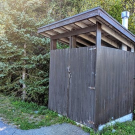 Pit toilets are kept clean and tidy.