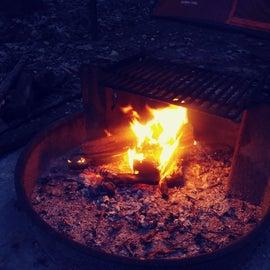 Nice warm fire on a cool night.