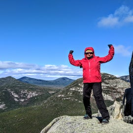 We made it just above tree line!  Wind was whipping at 30 mph and 0 degrees at the top.  October can be chilly!
