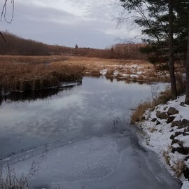 The icy river!